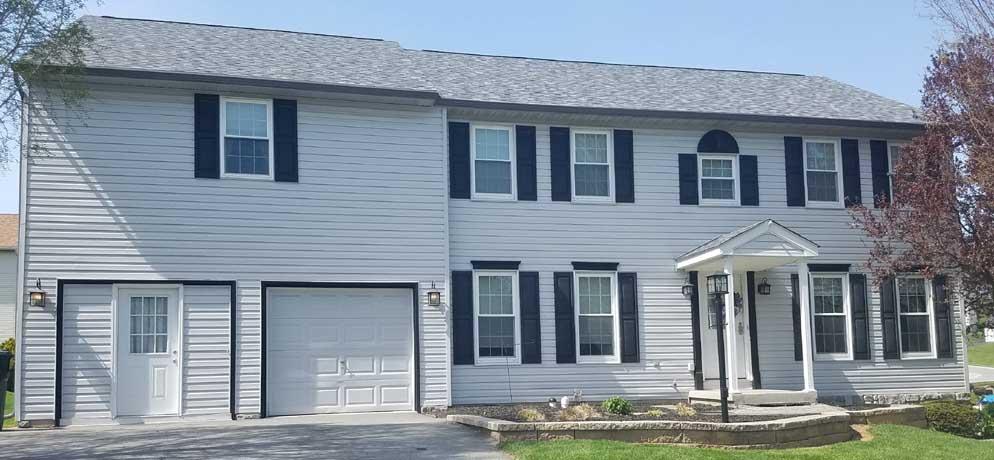 York Lancaster Harrisburg Pa New Seamless Gutter Installed